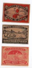 Collectible  OLD match box labels CHINA or JAPAN patriotic #206